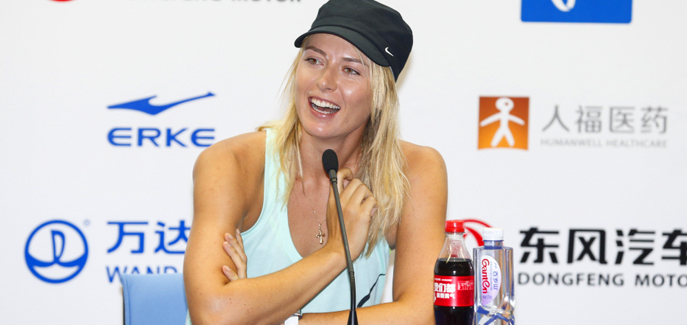 莎拉波娃出席赛前新闻发布会